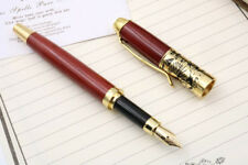 Jinhao Red Wooden With Rotten Carving Flower Medium Nib Fountain pen
