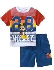 Disney Mickey Mouse Toddler Boy's 2 Piece Shirt & Shorts Set Size 3T New NWT Red