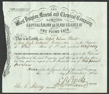 (England) West Drayton Mineral and Chemical Co., Ltd. (1884)