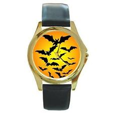 HALLOWEEN BATS HARVEST MOON GOLD-TONE WATCH 4 OTHER STYLES SILVER SPORTS CHARM