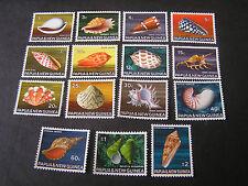 PAPUA NEW GUINEA, SCOTT # 265-279(15), COMPLETE SET 1968-69 SHELLS ISSUE MNH
