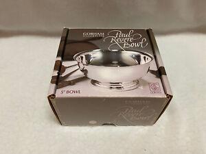 "VINTAGE Gorham Silverplate Paul Revere Bowl 5"" Open BOX"