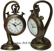 Antique Nautical Brass 49 Bond Street London Hanging Desk Clock Vintage Gift
