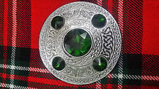 TC traditionnel Highland MOUCHE Plaid Broche 5green Pierre/kilt écossais