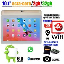 "TABLET 10.1"" POLLICI ANDROID OCTA-CORE 32GB 2GB 5/2MP GPS WIFI 3G 4G OTG GOLD"
