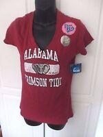 NCAA ALABAMA CRIMSON TIDE~Maroon V Neck TEE T SHIRT~Women's Medium~NWT