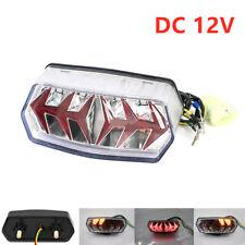 LED Motorcycle Quad ATV Tail Turn Signal Brake License Plate Integrated Light