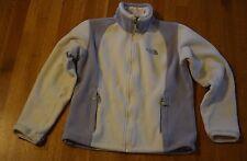 North Face Full Zip Fleece Jacket Women's Medium Ivory Grey