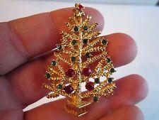 Art Christmas Tree Brooch Pin & An Unbraded Xmas Tree Brooch Pin - Bba-5