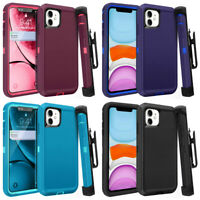 For iPhone 11 Pro Max Hybrid Case Cover Premium and Belt Clip Fits Otter box
