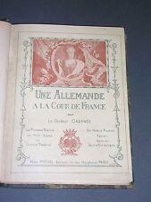 Cabanès Une Allemande à la cour de France princesse Palatine 1916 reliure