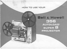 Instructions / Manual Bell & Howell 356 Super 8 Projector PHOTOCOPY 19 pgs