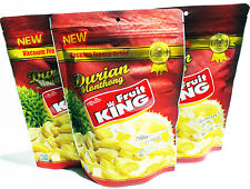 Fruit KING Freeze Dried Durian Monthong Healthy THAI Snack Natural HALAL 3x100g