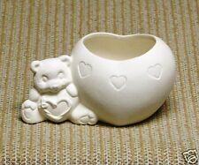 Ceramic Bisque Heart Belly Bear Clay Magic Mold 1022 U-Paint Ready To Paint