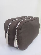 b4d2d99b89 D G DOLCE   GABBANA MEN S BROWN TRAVEL TOILETRY SHAVE WASH BAG W 2  COMPARTMENTS!
