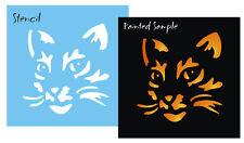 "STENCIL 4"" Kitty Cat Meow Pumpkin Halloween Witch Art Sign Block Feline Pattern"