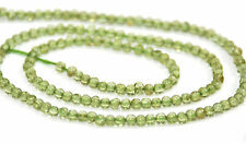 HALF STRAND NATURAL PERIDOT TINY ROUND BEADS, 2 MM, GEMSTONE