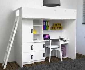 Etagenbett Hochbett Brownlee Kindermöbel Schrank Schreibtisch Kinderzimmer M24