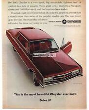 1965 Chrysler 300 4 door Hardtop Vtg. Print Ad