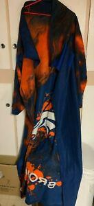 Denver Broncos Snuggie Wearable Blanket Sleeves Orange Blue White Soft Warm