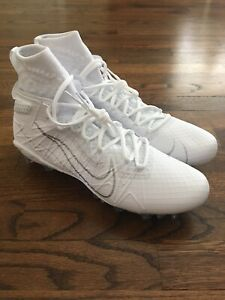 Nike Alpha Huarache 7 Elite LAX Football Cleats White Men's Size 9.5 CJ0224-106