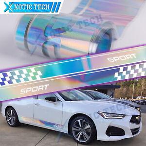 For Acura TSX TLX ILX Racing Reflective Stripe NEO Body Side Skirt Vinyl Sticker