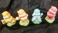 "Care Bears Ceramic Figures Lot of 4 Vintage 2-3"" Figurines   (item #44A)"