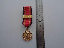 ^(A16-30) Bundeswehr Einsatzmedaille EUFOR Miniatur deutsches System gold