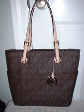NWT Michael Kors Brown Signature EW East West Tote Handbag