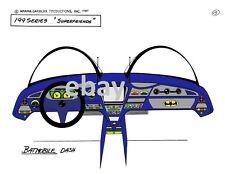 Super Friends BATMOBILE DASH MODEL SHEET PRINT Hanna Barbera Cartoon Batman