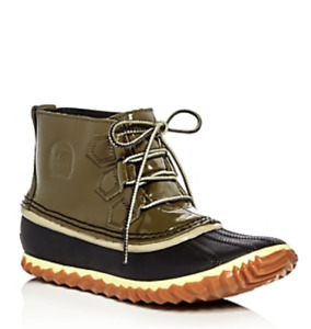 Sorel Out N About Leather Lace Up Duck Booties $115 Size 5 # M2 86 NEW