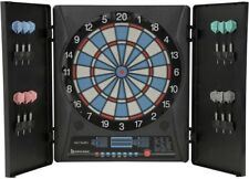 Electronic Dartboard - 12 Darts + Playing Rules Included Cabinet Doors 30 Games