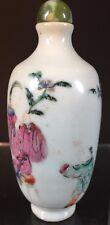 """Asie - Tabatière en porcelaine """"famille rose"""""""