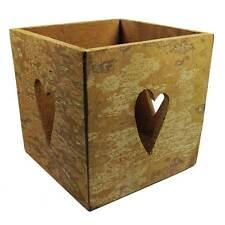 Cinnamon Bark Square Candleholder - Handmade in Vietnam - Fair Trade