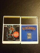 Keith Courage TurboGrafx-16 1989 & The kung fu (China Warrior) PC engine Hu Card
