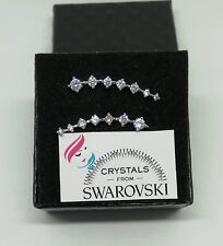 Orecchini donna punto luce oro pl. 18 kt e cristalli Swarovski veri SWOROB18-011