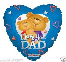 """Balloon 18"""" Mylar Heart Shaped I LOVE YOU DAD Party Decorations Gifts"""
