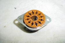 NOS Amphenol 12 Pin Tube Socket Brown Base With Mounting Ears USA Vintage