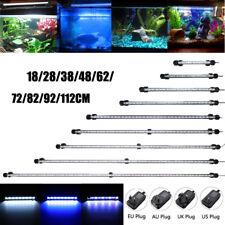 20-130CM Blau Weiß LED Aquarium Beleuchtung Unterwasser Süßwasser Aquariumlampe
