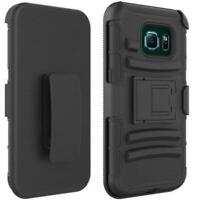DROP-PROOF HOLSTER CASE HYBRID COVER SWIVEL BELT CLIP for Galaxy S7 Edge Phones