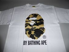 14192 bape 1st camo by bathing white/yellow tee L