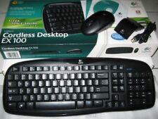 Logitech EX100 Desktop Wireless Multimedia Keyboard & Optical Mouse Combo