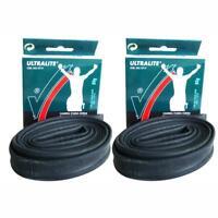 2 x Vittoria Road Bike Ultralite inner tubes 51mm Presta Valve 700 x 19 /23 tube