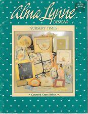 Nursery Times Cross Stitch | Alma Lynne ALX-55 Baby Birth Samplers