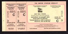 The Who - August 18, 1979 - FULL UNUSED ticket - Wembley Stadium, UK