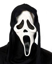 weiße Phantom Maske mit Kapuze Halloween Party Grusel