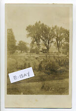 PM Oswego NY RPPC real photo view of home in the trees, 1916