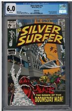 """SILVER SURFER #13 CGC 6.0 """"Bowling Green Pedigree"""" 1st Doomsday!🔥🔥🔥"""