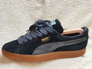 Puma Suede mens Street trainers Black/Grey/Brown UK 9 EUR 43 US 10