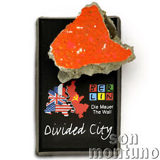 Real BERLIN WALL PIECE on Magnet DIVIDED CITY Authentic Historic German Souvenir
